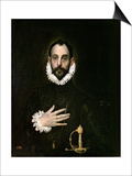 A Nobleman with His Hand on His Chest  circa 1577-84