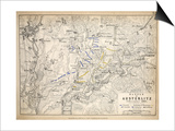 Map of the Battle of Austerlitz  Published by William Blackwood and Sons  Edinburgh and London