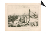 The Old and New London Bridges  1830