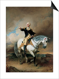 Portrait of George Washington Taking the Salute at Trenton