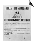 Order of General Mobilisation  1914