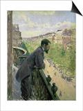 Man on a Balcony  C1880