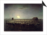 The Sheepfold  Moonlight  1856-60