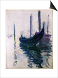 Gondolas in Venice  1908
