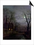 Moonlit Street Scene  1882