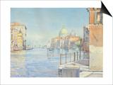 The Gran Canal  Venice  with the Santa Maria Della Salute  1910