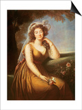 Comtesse Du Barry  Holding a Rose