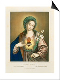 The Sacred Heart of Mary  Published by Fr Wentzel  Weissenburg  1850