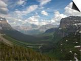 Glacial U-Shaped Valley  Glacier National Park  Montana  USA