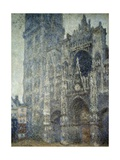 The Portal of Rouen Cathedral  Grey Weather by Claude Monet