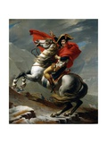 Napoleon I Bonaparte Crossing the St Bernard Pass 1800 by by Jacques-Louis David