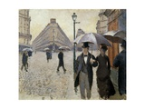 A Street of Paris in Rainy Weather (Paris  Rainy Day) by Gustave Caillebotte