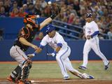 Sep 26  2014: Toronto  Canada - Baltimore Orioles v Toronto Blue Jays - Dalton Pompey  Nick Hundley