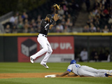 Sep 26  2014: Chicago  IL - Kansas City Royals v Chicago White Sox - Lorenzo Cain  Alexei Ramirez