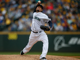 Sep 28  2014: Seattle  WA - Los Angeles Angels of Anaheim v Seattle Mariners - Felix Hernandez