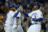 Sep 26  2014: Los Angeles - Colorado Rockies v Los Angeles Dodgers - Justin Turner  Carl Crawford