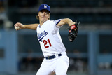 Sep 23  2014: Los Angeles  CA - San Francisco Giants v Los Angeles Dodgers - Zack Greinke