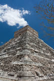Side View of Chichen Itza Pyramid