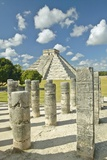 The Pyramid of Kukulkan  (Also known as El Castillo)  a Mayan Ruin  as Seen from the Thousand Colum