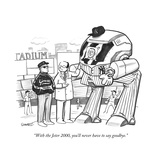 """With the Jeter 2000  you'll never have to say goodbye"" - New Yorker Cartoon"