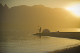 Sunset  Father & Son Beach Camping W/Kayak