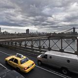 Taxi on Brooklyn Bridge