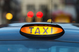 Uk  England  London  Sign on Taxi Cab