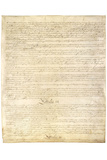 US Constitution Page 3 Art Poster Print