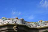 Mosaic Railings in Gaudi's Park Guell  Barcelona