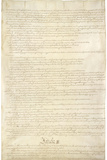 US Constitution Page 2 Art Poster Print