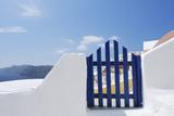 Gateway and Ocean  Oia  Santorini Island  Cyclades Islands  Greek Islands  Greece