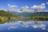 Rosengarten Mountains Reflecting in Small Lake