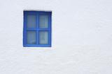 Blue Window of Church  Oia  Santorini Island  Cyclades Islands  Greek Islands  Greece