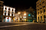The Square of San Francisco in Old Havana at Night