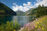 Beautiful Landscape of Geiranger Fjord (Unesco Heritage)  Norway  Scandinavia