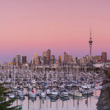 Auckland City Skyline & Westhaven Marina