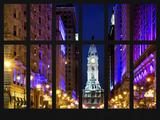 Window View - City Hall and Avenue of the Arts by Night - Philadelphia - Pennsylvania