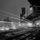 Steel Bridge with Train Passing