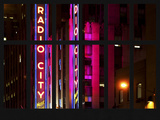 Window View - View of the Radio City Music Hall by Night - Manhattan - New York City