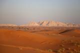 Sunset on Sand Dunes in Dubai  United Arab Emirates