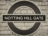Notting Hill Gate Sign - Subway Station Sign - London - UK - England - United Kingdom - Europe