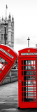 Red Telephone Booths - London - UK - England - United Kingdom - Europe - Door Poster