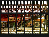 Window View - Urban Street Scene - Marcy Avenue Subway Station - Williamsburg - Brooklyn - NYC
