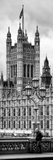 Royal Lamppost UK and London Eye - Millennium Wheel - London - England - Door Poster