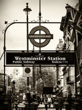 Westminster Station Underground - Subway Station - London - UK - England - United Kingdom - Europe