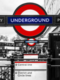 The Underground - Subway Station Sign - London - UK - England - United Kingdom - Europe