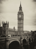 View of Big Ben from across the Westminster Bridge - London - UK - England - United Kingdom