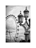 Royal Lamppost UK and London Eye - Millennium Wheel - London - UK - England - United Kingdom