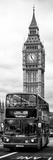 London Red Bus and Big Ben - London - UK - England - United Kingdom - Door Poster