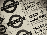 Antique Enamelled Signs - Subway Station and W11 Railroad Wall Plaque Signs - London - UK